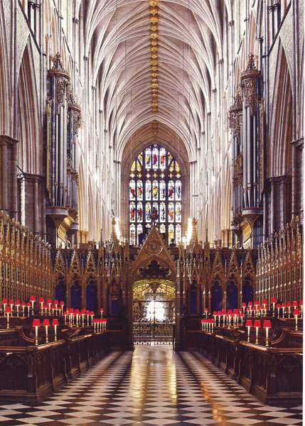 Choeur stalles Westminster